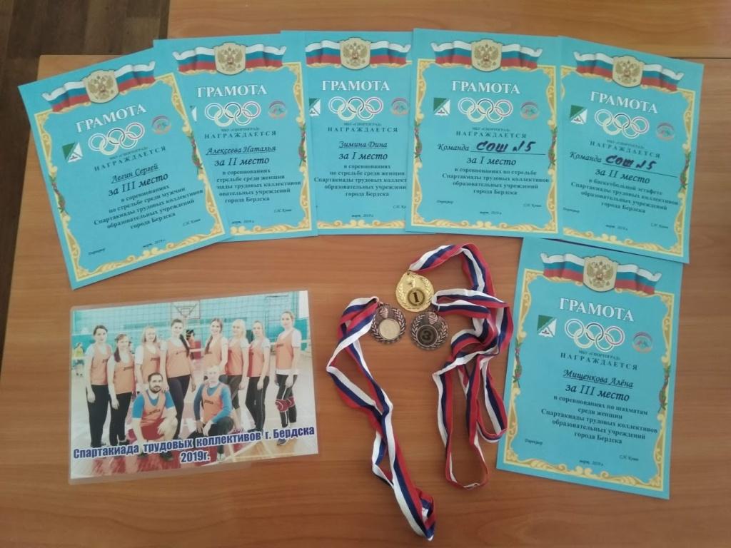 Поздравляем команду школы № 5 с успешным выступлением в Спартакиаде трудовых коллективов!!!