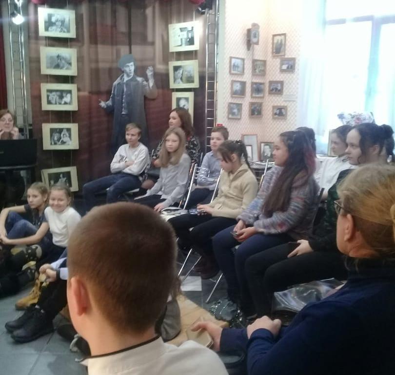 5 февраля 5Б класс посетили Музей — театр актёра Владлена Бирюкова