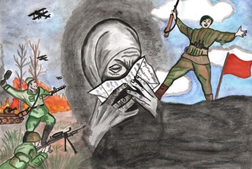 Общешкольный конкурс рисунков «Спасибо тебе, солдат!»